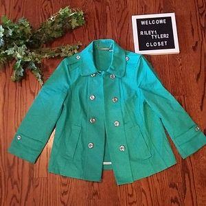 WHBM loghtweight green jacket
